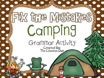 Fix the Mistakes Camping Trip Grammar Activity