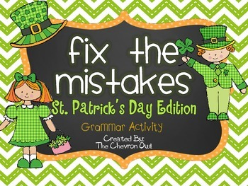 Fix the Mistakes St. Patrick's Day Grammar Activity