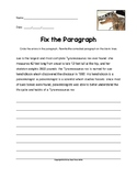 Fix the Paragraph T. Rex Named Sue Practice Worksheet (Gra