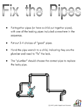 Fix the Pipes Activity
