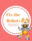 Fix the Robot: Alphabet File Folder Game