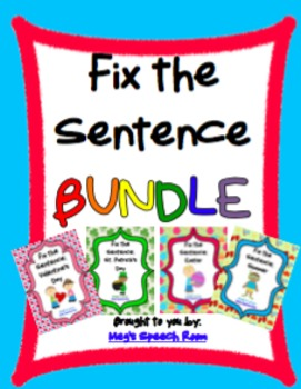 Fix the Sentence Bundle