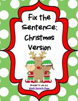 Fix the Sentence: Christmas