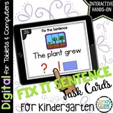 Fix the Sentence Activity: Kindergarten Google Classroom D