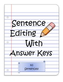 Sentence Editing for Punctuation and Basic Grammar with An