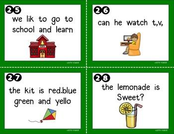 Fix the Sentence ~ Leveled Literacy Center