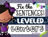 Fix the Sentence ~ Leveled Literacy Center
