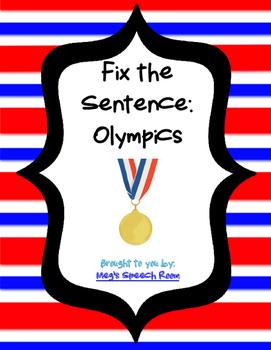 Fix the Sentence: Olympics