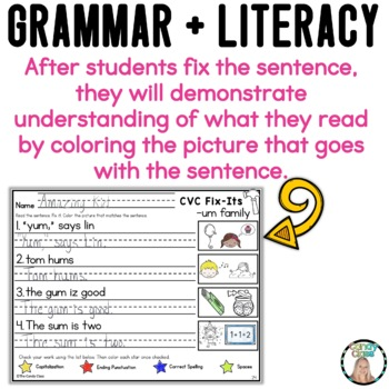 Fix the Sentence Grammar Task Cards: Capitalization and Punctuation Practice