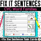 Fix the Sentence Task Cards  - Capitalization and Punctuat