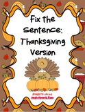 Fix the Sentence: Thanksgiving