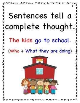 Fix the Sentence group activity