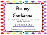 Fix the Sentence
