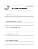 Fix the Sentences Chinese New Year Worksheets