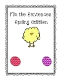 Fix the Sentences: Spring Edition
