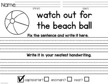 Fix the Sentences-Summer Season
