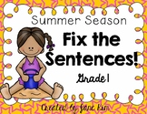 Fix the Sentences-Summer Season
