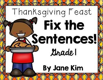 Fix the Sentences-Thanksgiving Feast