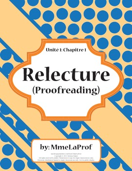 Proofreading: Fix the Words: Worksheet Activity w/ Modifications: Unit 1, Ch 1