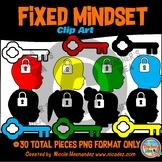 Fixed Mindset Clip Art for Teachers