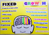 Fixed and Growth Mindset Poster for students