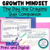 Growth Mindset/Fixed Mindset -Social Skills & Writing-The Day the Crayons Quit
