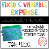 Fixed and Variable Expense Sort 4.10A