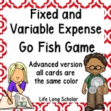 Fixed and Variable Expenses Go Fish Game - advanced version TEKS 4.10A