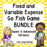 Fixed and Variable Expenses Go Fish Games - Bundle TEKS 4.10A