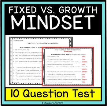 Fixed versus Growth Mindset Assessment