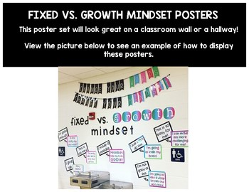 Fixed vs. Growth Mindset Posters