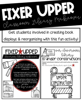 Fixer Upper Classroom Library Makeover