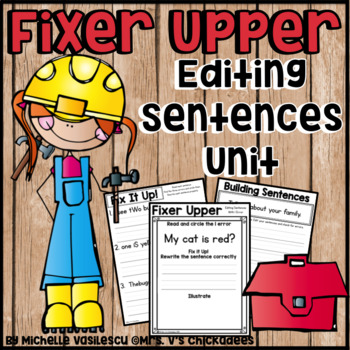 Editing Sentences: Correcting Capitilization, Spacing & Pu