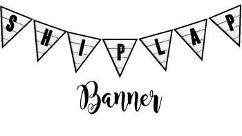 Fixer Upper Shiplap Banner Lettering