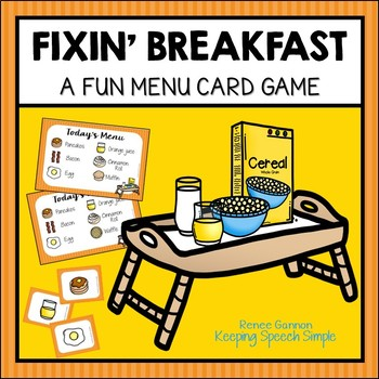 Vocabulary Games for Early Learners - Breakfast Themed