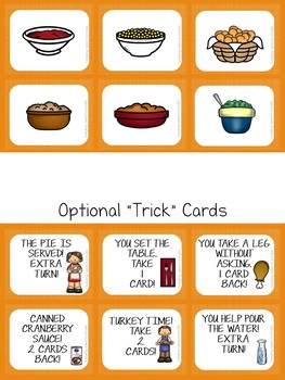 Fixin' Turkey Dinner- Vocabulary Card Game for Thanksgiving