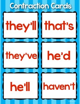 Contractions Pack! First Grade ELA