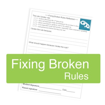 Fixing Broken Rules -- Reflection Sheet