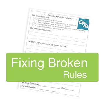 Fixing Broken Rules -- Reflection Sheet