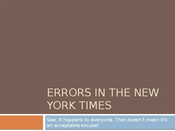 Fixing Grammar Errors from the New York Times