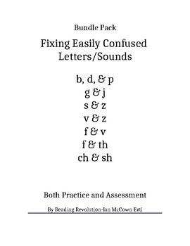 Fixing Letter Confusion and Reversals: Bundle Pack   Practice and Assessment