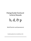 Fixing Letter Confusion and Reversals: b, d, p   Practice