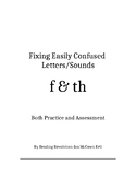 Fixing Letter Confusion and Reversals: f-th   Practice and