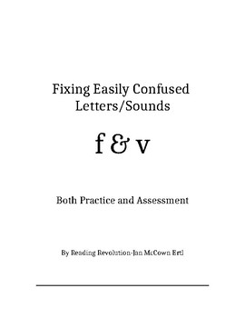 Fixing Letter Confusion and Reversals: f-v   Practice and Assessment