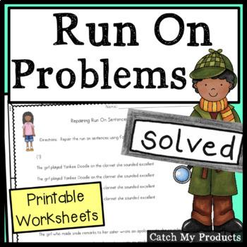 Grammar Worksheets : Run On Sentences Practice Pages