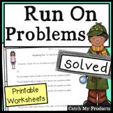 Run On Sentences Worksheets