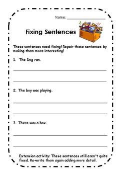 Fixing Sentences Lower Grades