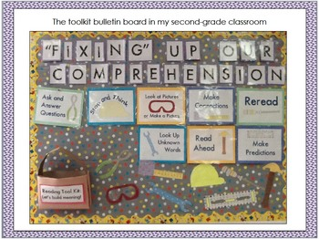 """""""Fixing"""" Up Our Reading Comprehension: Posters and Strategy Cards Bundle"""
