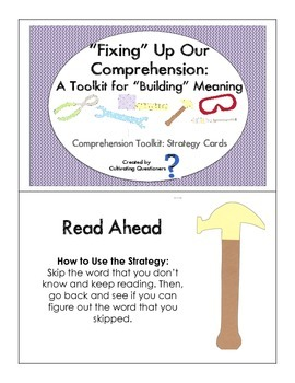 """Fixing"" Up Our Reading Comprehension: Reading Strategy Cards"