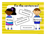 *AZELLA* practice Fixing and Writing a Sentence